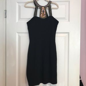 Beautiful black party dress with design